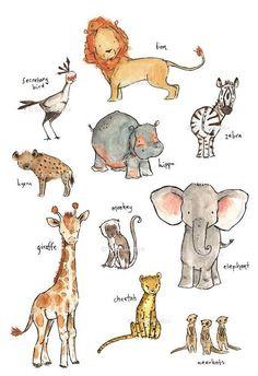 868 Best Watercolor Animals images.