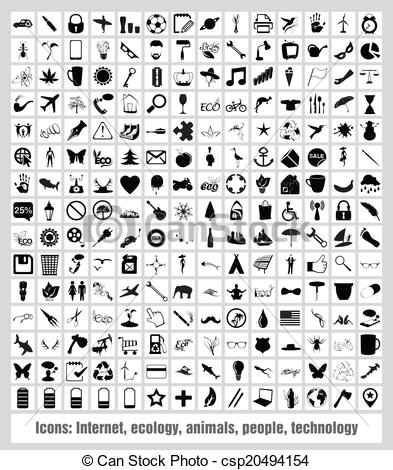 Clipart Vector of Icons.