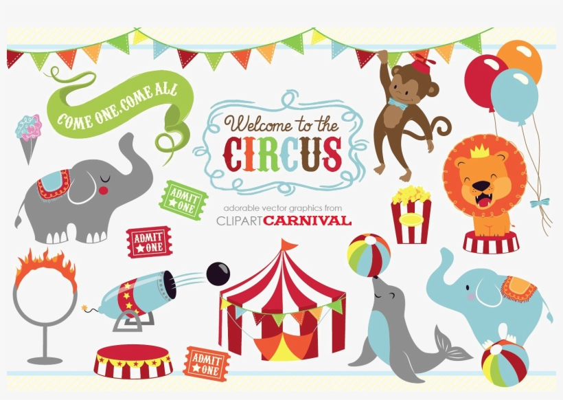 Circus Animals Png Image With Transparent Background.