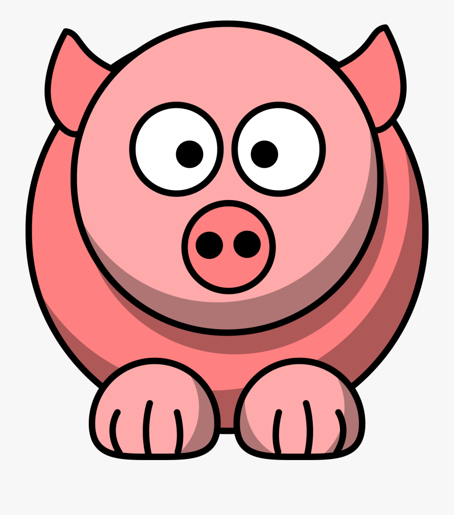 Pig Clipart Red.
