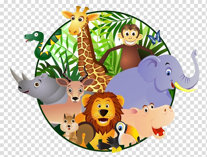 Zoo animals , Cartoon Safari , orangutan transparent.