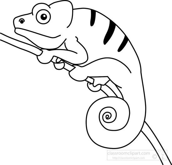94 Chameleon free clipart.