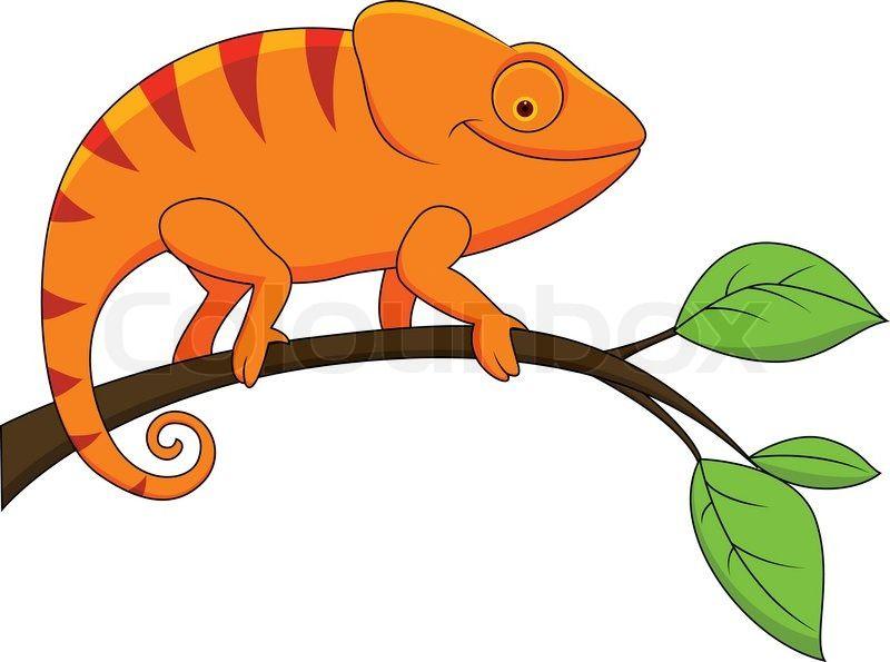 Chameleon clipart single animal, Chameleon single animal.