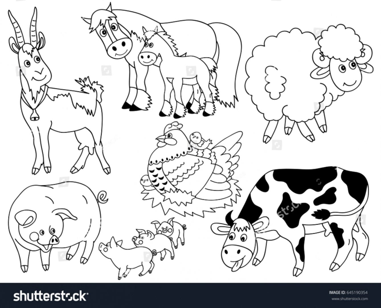 Animals Clipart Black And White.