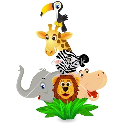 Zoo Animal Border Clipart.