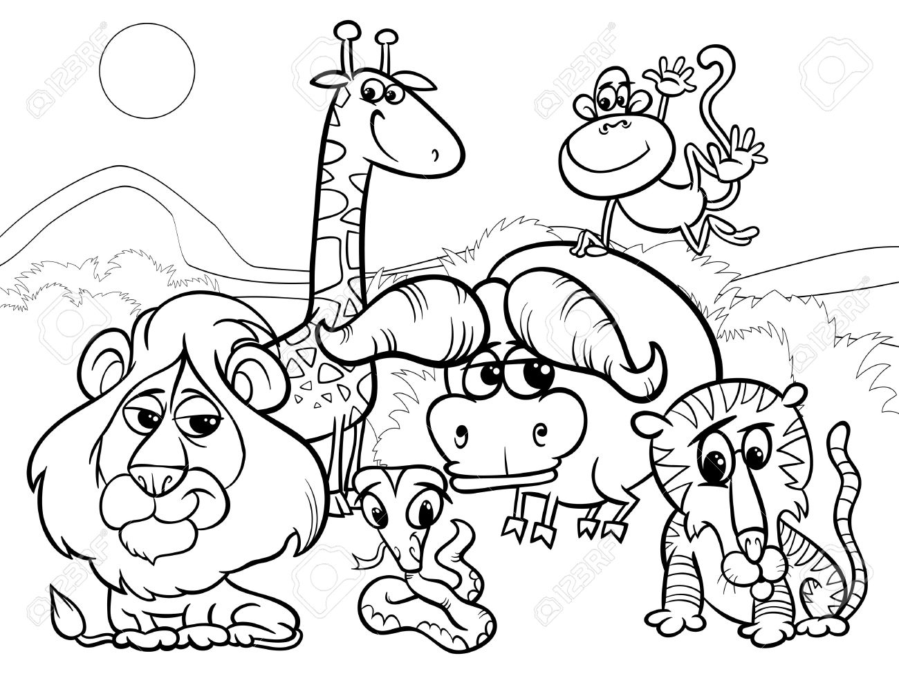 Zoo Animal Clipart Black And White.