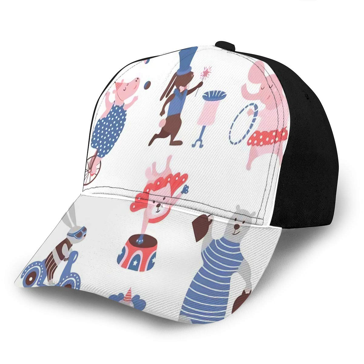 Amazon.com: Baseball Caps Hats Circus Animals Clipart Hippo.