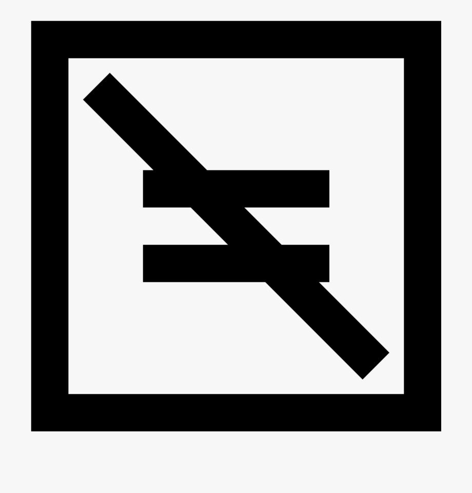 Not Equal Symbol For Kids.