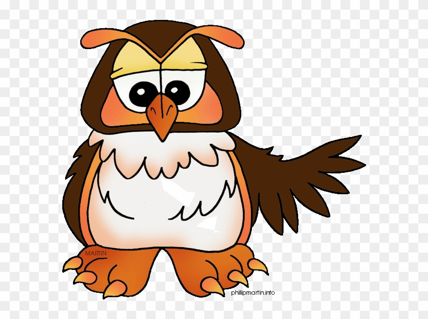 Animals Clip Art By Phillip Martin, Owl.