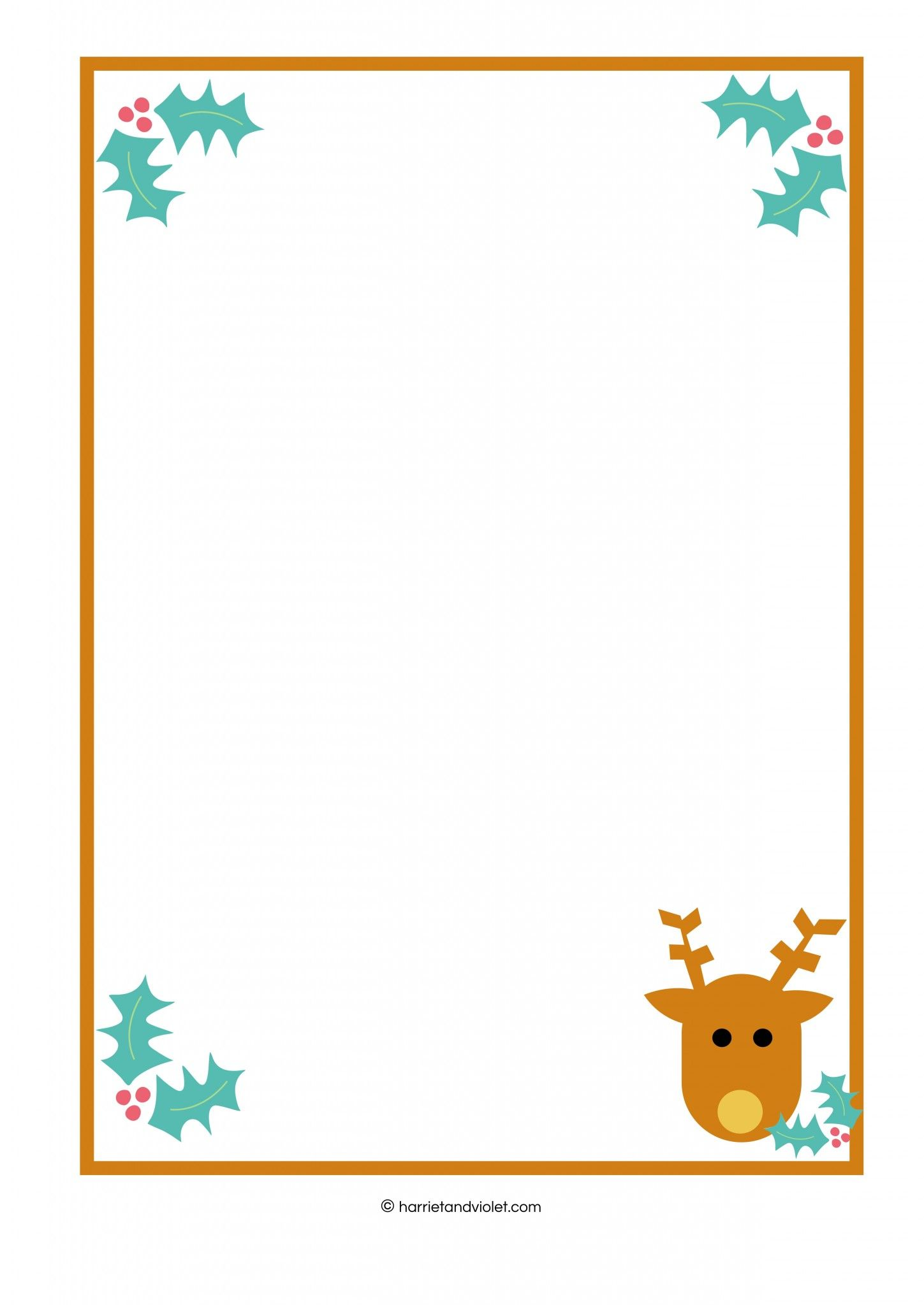 Reindeer border.
