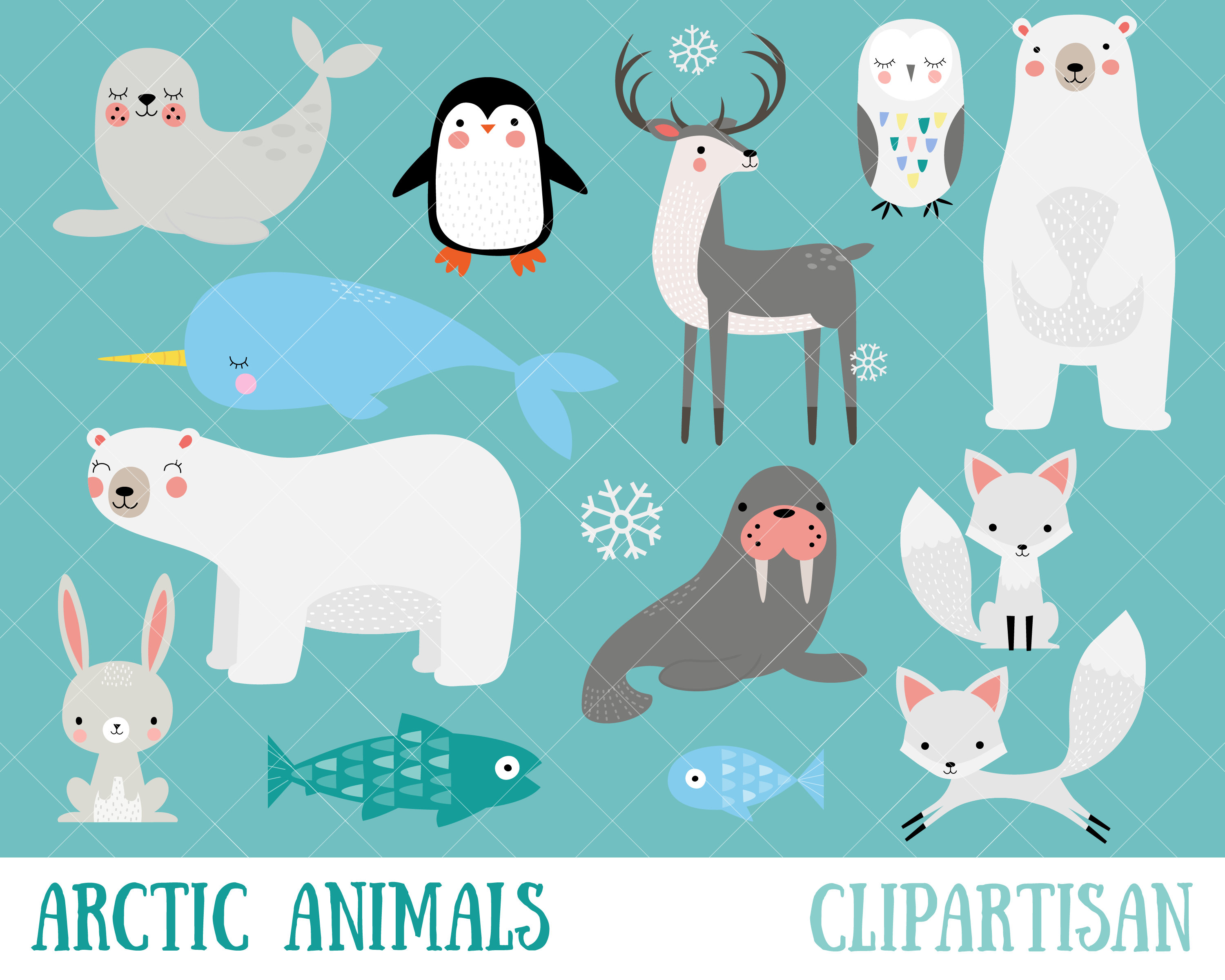 Arctic Animals Clipart.