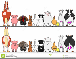 Farm Animal Border Clipart.