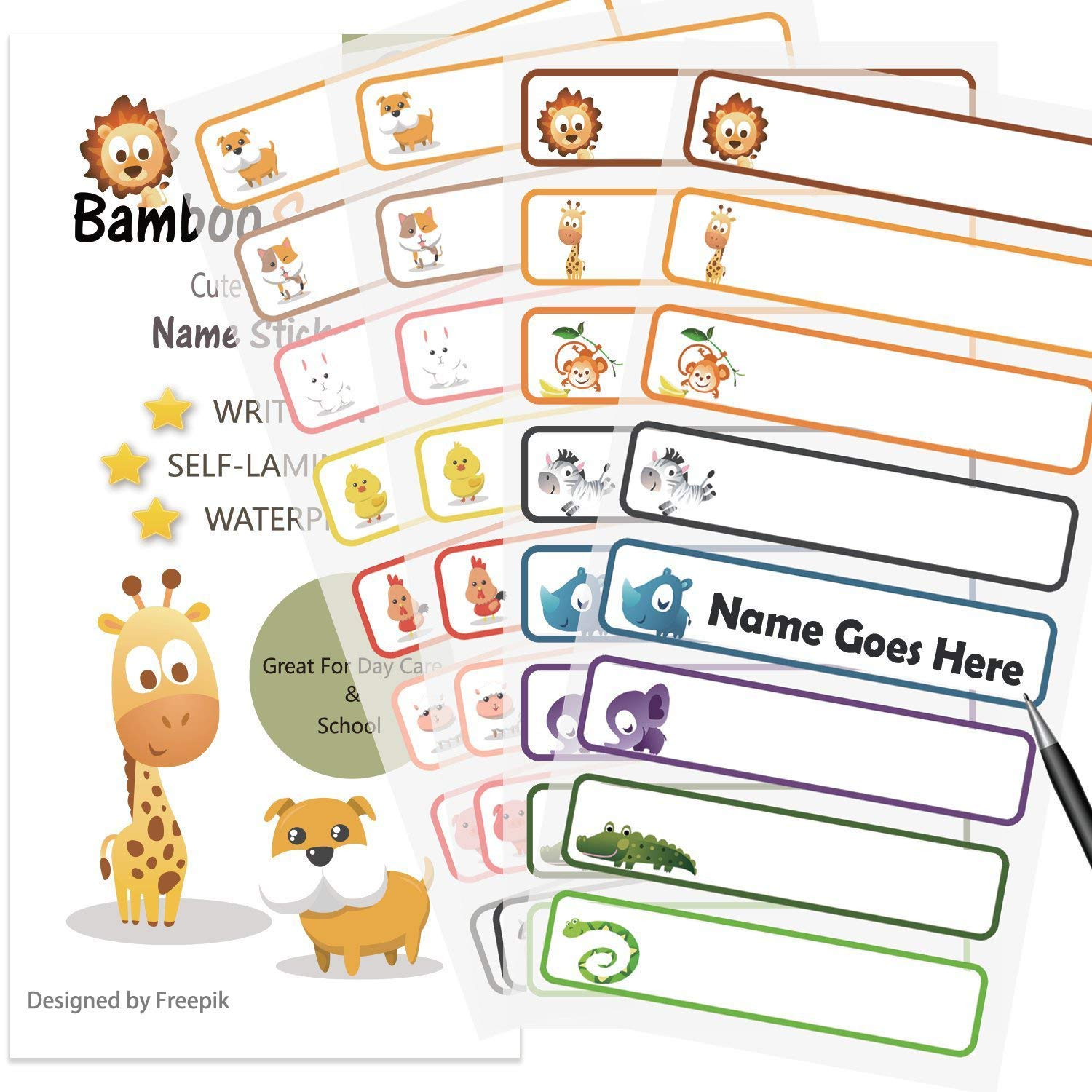 Baby Bottle Labels for Daycare,School, Waterproof Write.