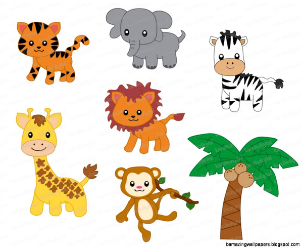 Jungle Animals Clipart Free Download Clip Art.