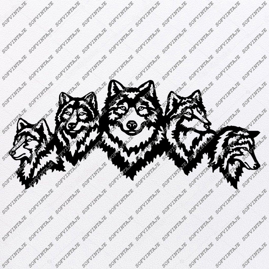 Wolf Svg File.