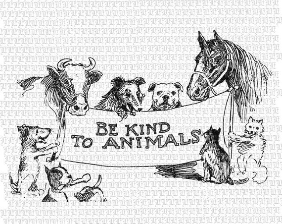 Animal Rights Welfare Protection Campaign Message Clip Art.