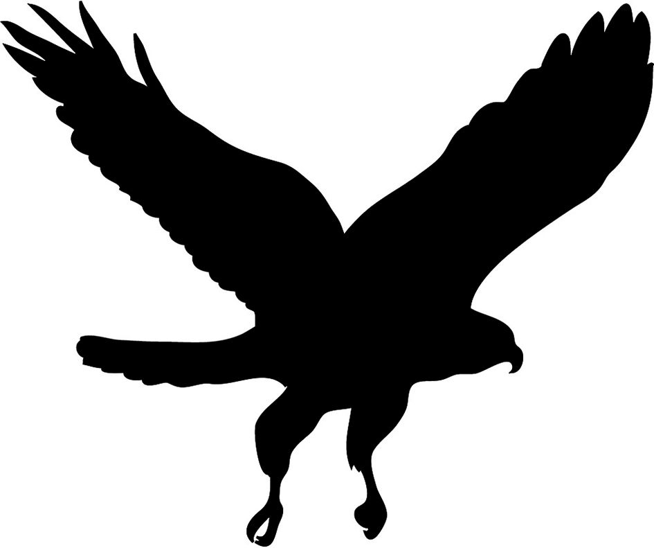 Clip Art Flying Bird.