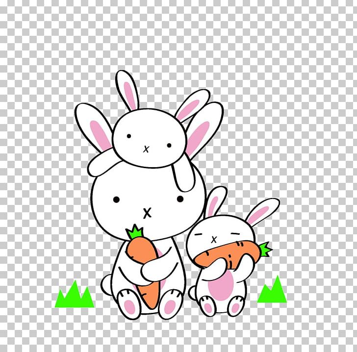 Daikon Rabbit Eating Carrot Chinese Cabbage PNG, Clipart.