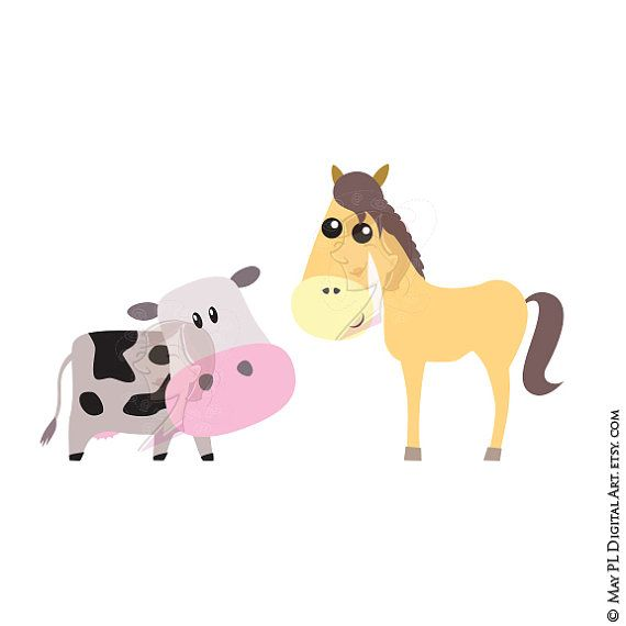 Stable Animals Horse Cow Clipart, part of Baby Jesus Christ.