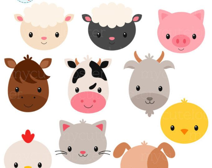 Farm animal clipart.