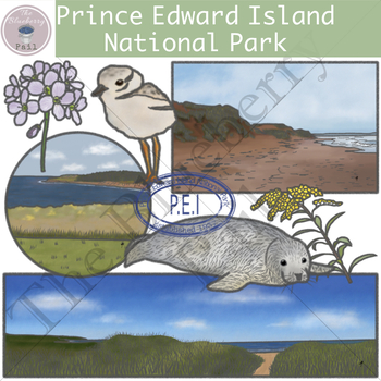 Prince Edward Island National Park Clipart Set.