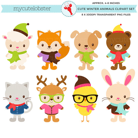 Animals Wearing Clothes Clipart.