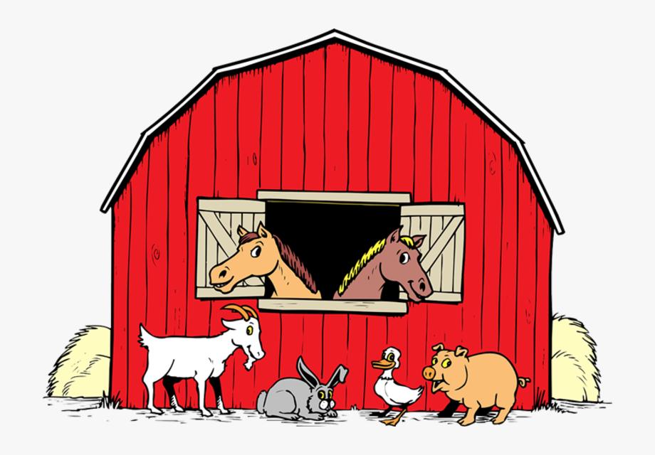 Barn With Animals Clipart , Transparent Cartoon, Free.