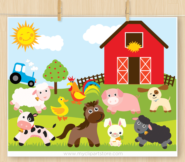 Download High Quality barn clipart farm animals Transparent.