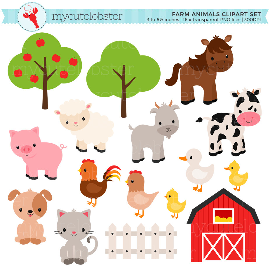 2220 Farm Animals free clipart.