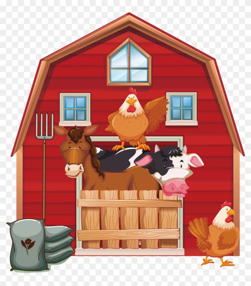 Cattle Silo Farm Barn Clip Art.