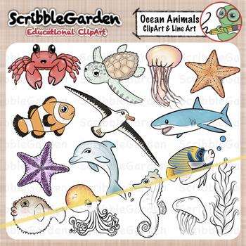 Habitat Animals: Oceans ClipArt.