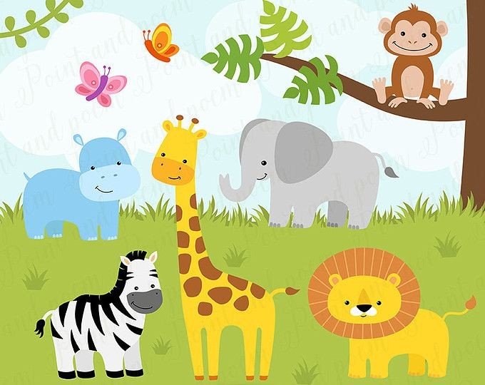 Jungle Clip Art, Jungle Digital Papers,Jungle Clipart,Jungle.