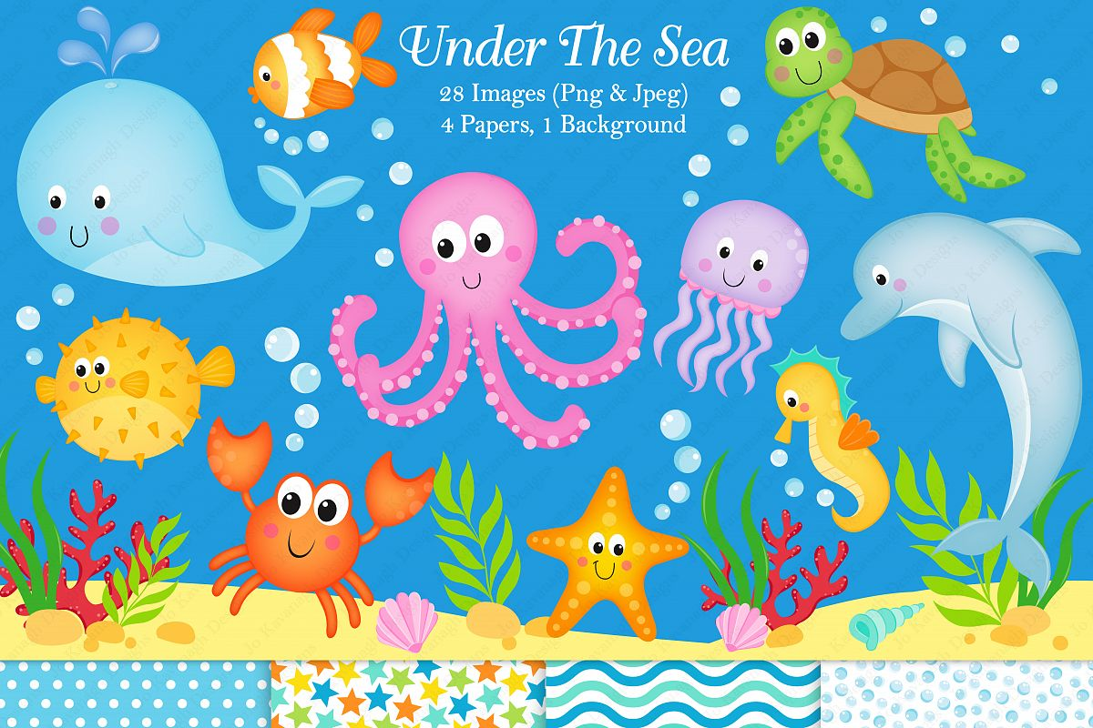 Clipart Under The Sea Animals.