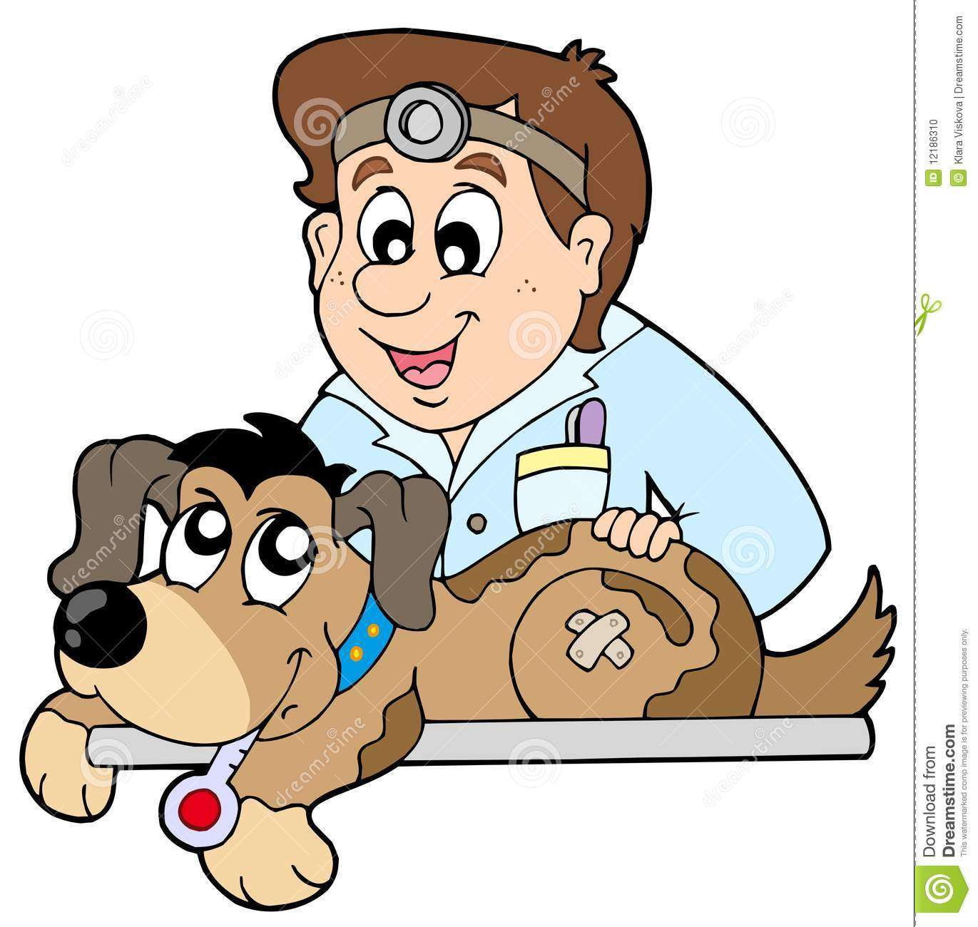 Veterinarians With Animals Clipart.