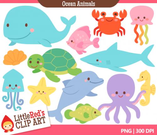 Ocean Animal Clip Art & Ocean Animal Clip Art Clip Art Images.