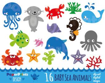 50%OFFSALE Sea Animal Clipart,Sea Animals Clipart,Sea Creatures.