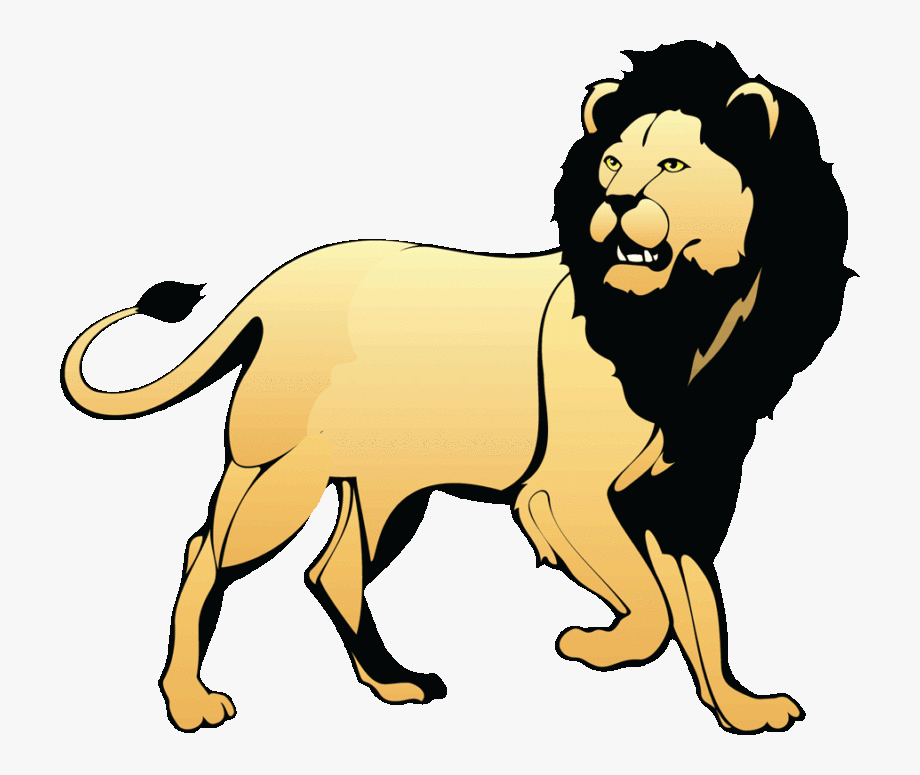 Circus Lion Png Black And White.