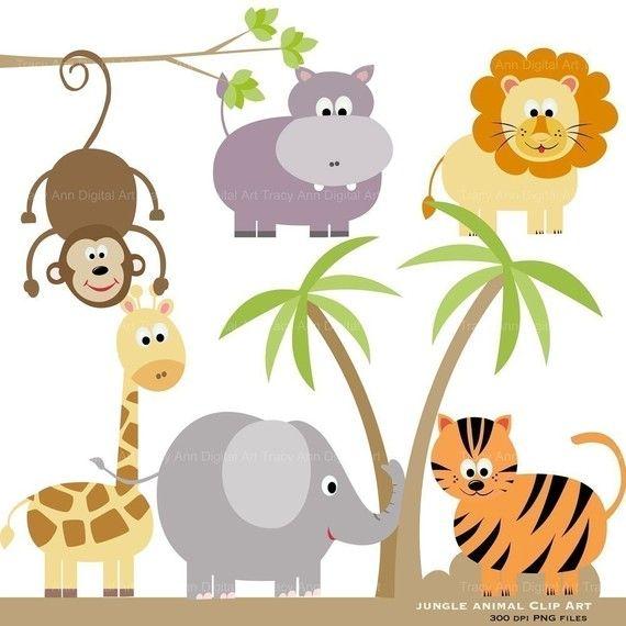 Jungle Animal Clip Art Original Zoo Jungle Book clipart.