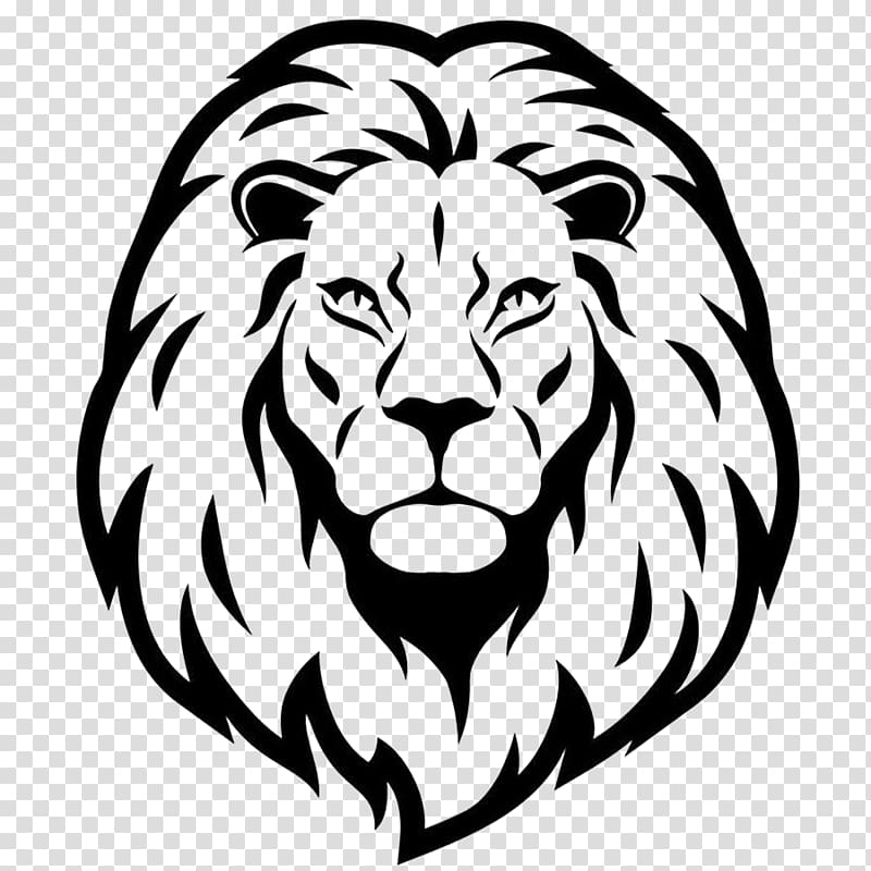 Lion head stencil, Lionhead rabbit Drawing , lionhead.