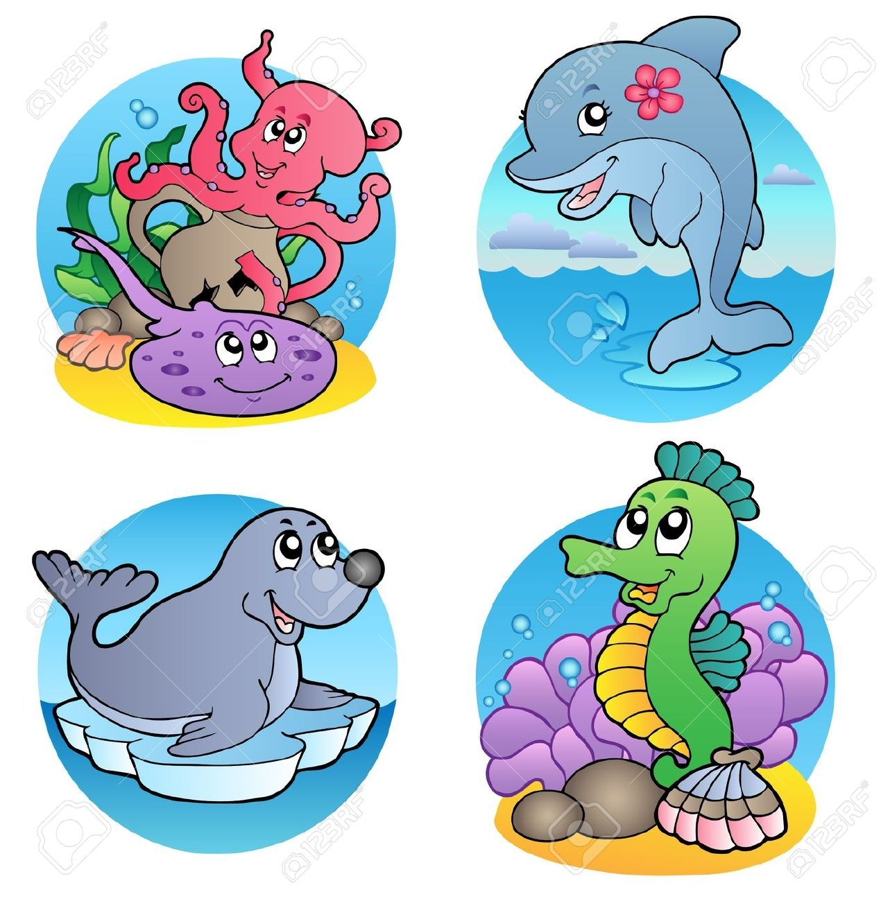 Animals live in water clipart 5 » Clipart Station.