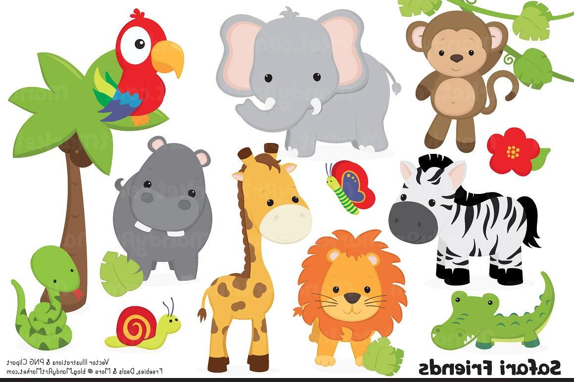 Top Printable Pictures Jungle Animals Vector Library » Free.