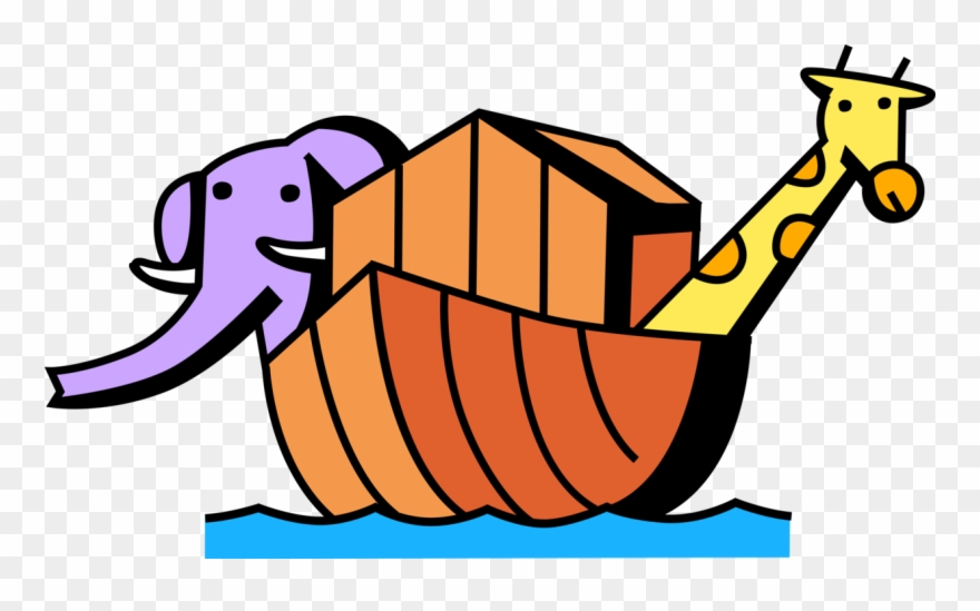 Noah\'s Ark Biblical Story With Animals.