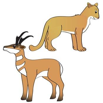 North American Animals Clip Art.