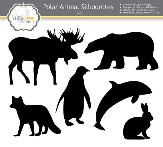 Northern Animals Clipart, Polar Animals Clip, Arctic Animals.