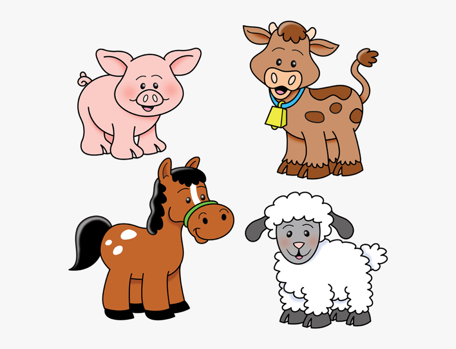 Cute Farm Animal Clipart , Transparent Cartoon, Free.