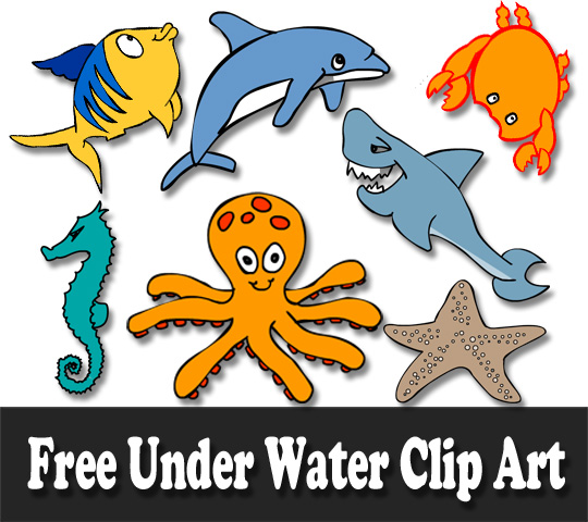 Animals On Water Clipart.