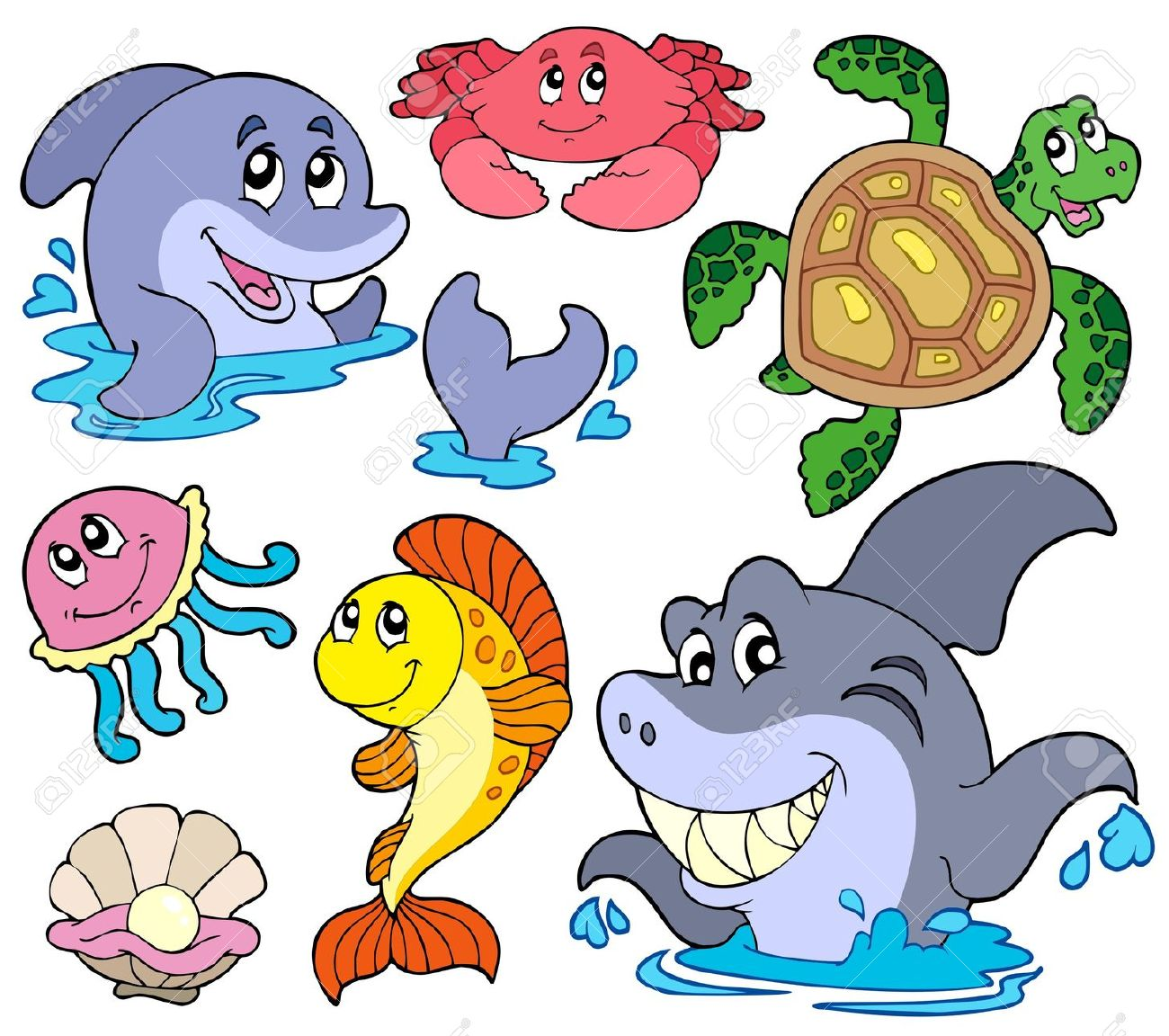 Animals That Live On Water Clipart.