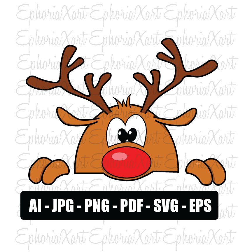 Reindeer svg,svg files for cricut,reindeer svg files : Merry.
