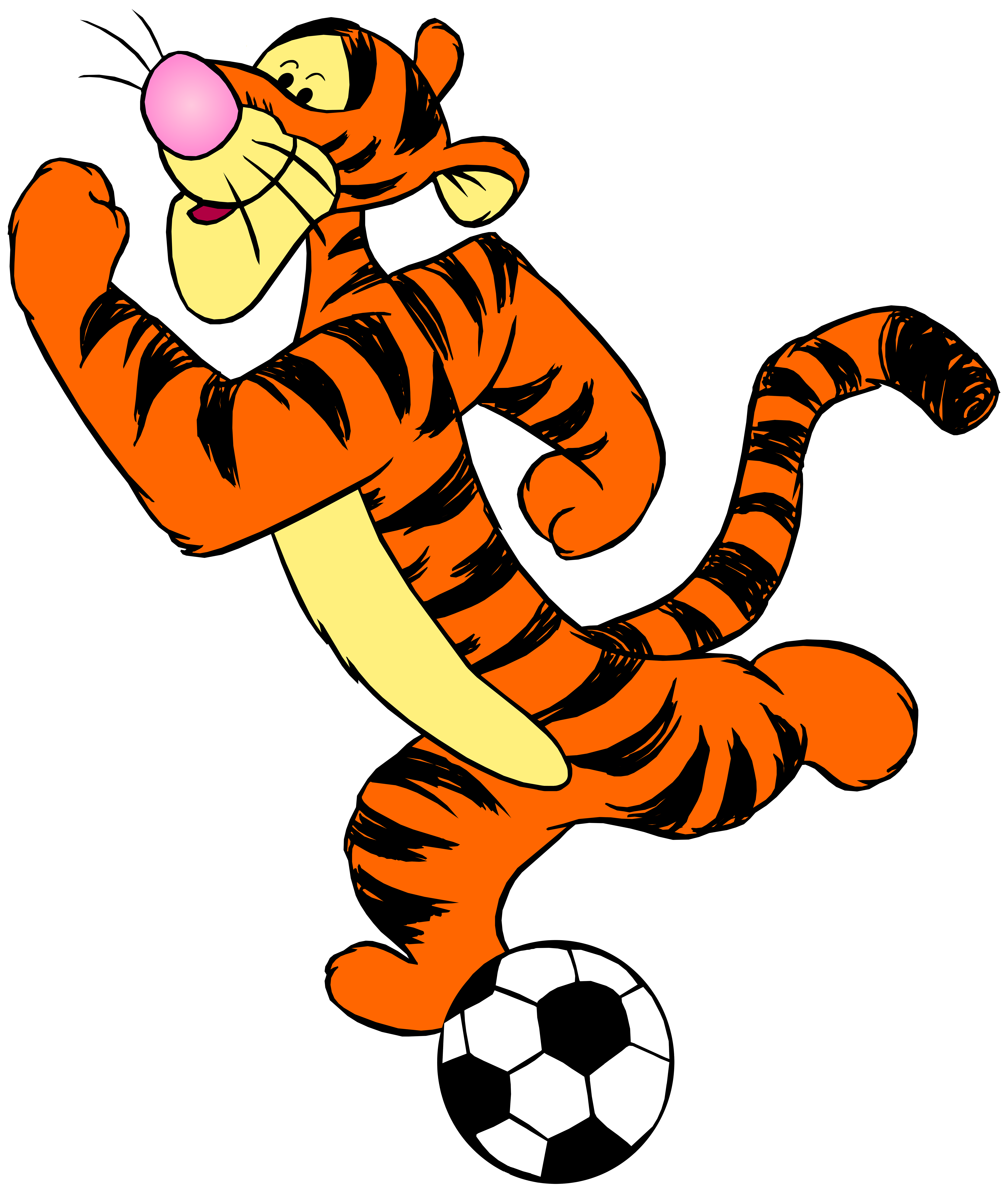 Tigger with Football PNG Clip Art.