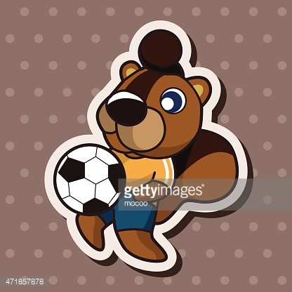 Animals play football cartoon theme elements Clipart Image.
